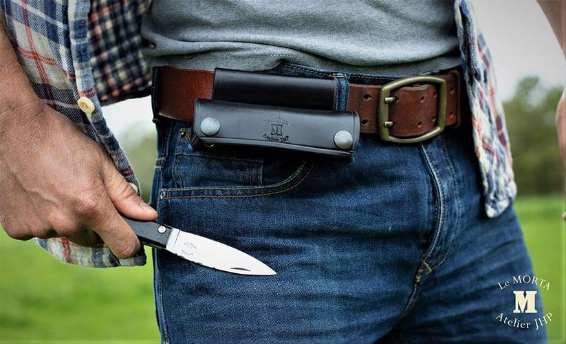 Etui couteaux morta bleu 7