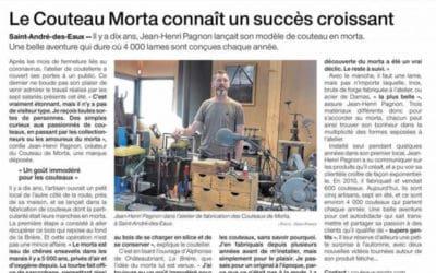 """Ouest France : """"Le Couteau Morta connaît un succès croissant"""""""