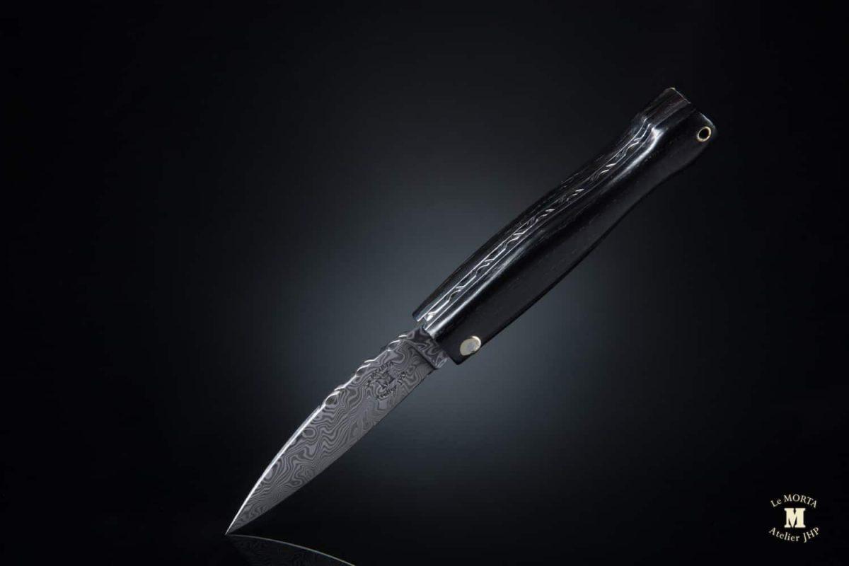 couteau de poche mini Morta damas 03