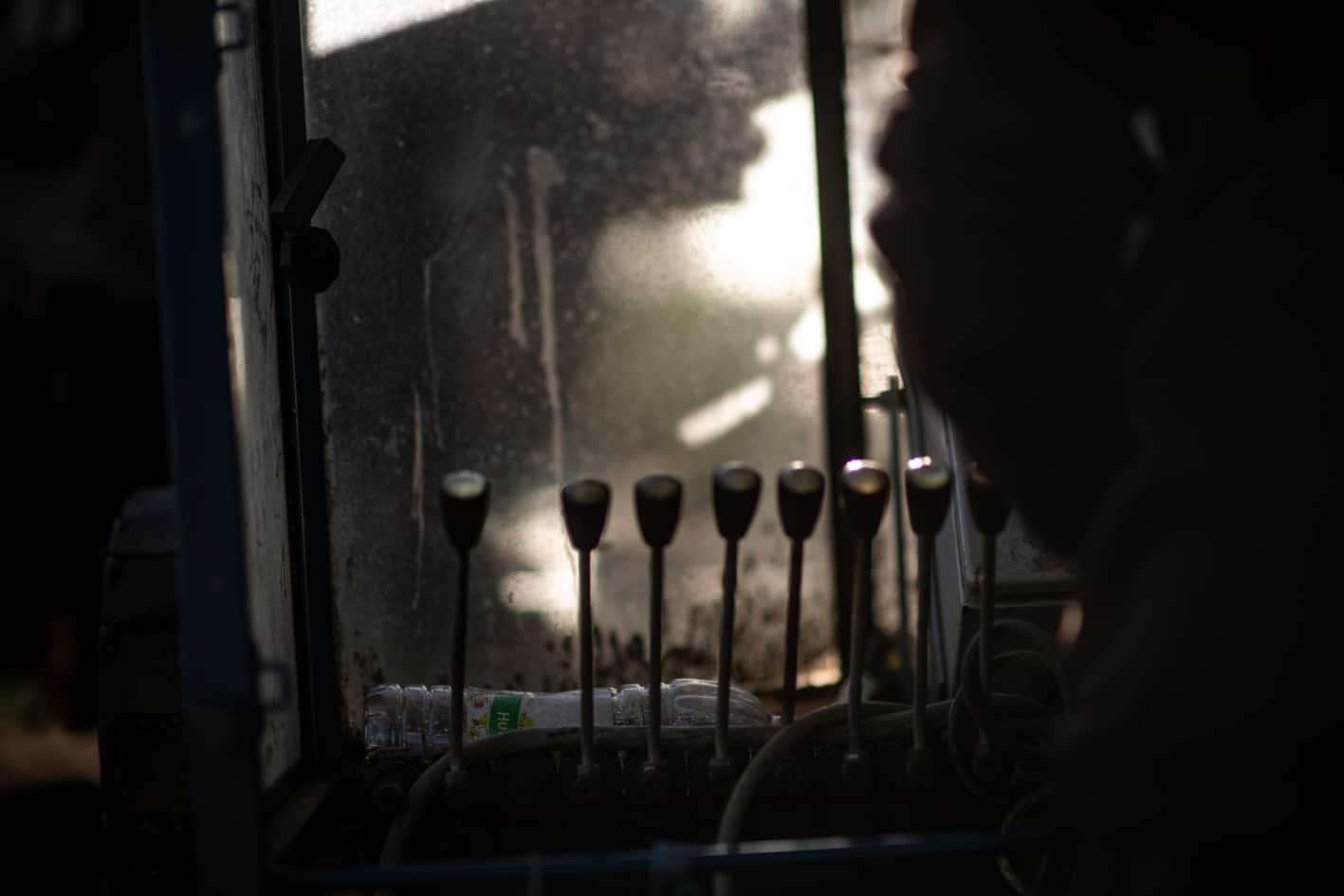 Scie Mobile - Couteaux Morta - Intérieur de cabine